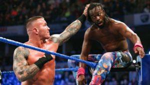 Randy Orton beating Kofi Kingston