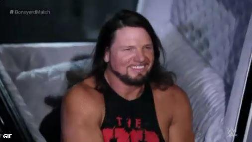 Undertaker defeated AJ Styles in Boneyard Match : Wrestlemania Results