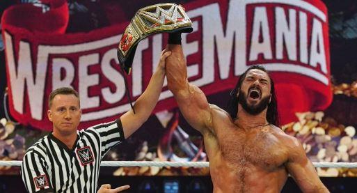 Drew McIntyre defeated Brock Lesnar : Wrestlemania Results